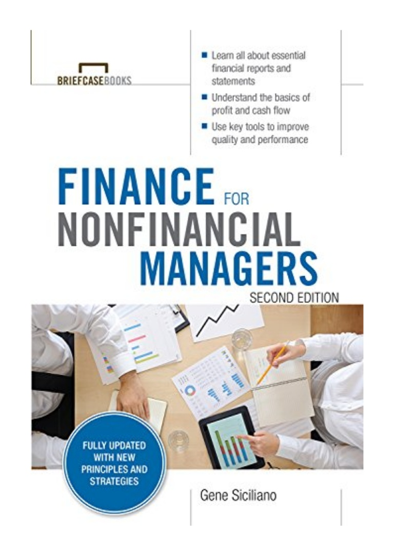 [BOOK REVIEW] Finance For Nonfinancial Managers by Gene Siciliano